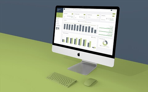 An example CSI dashboard for data analytics and healthcare