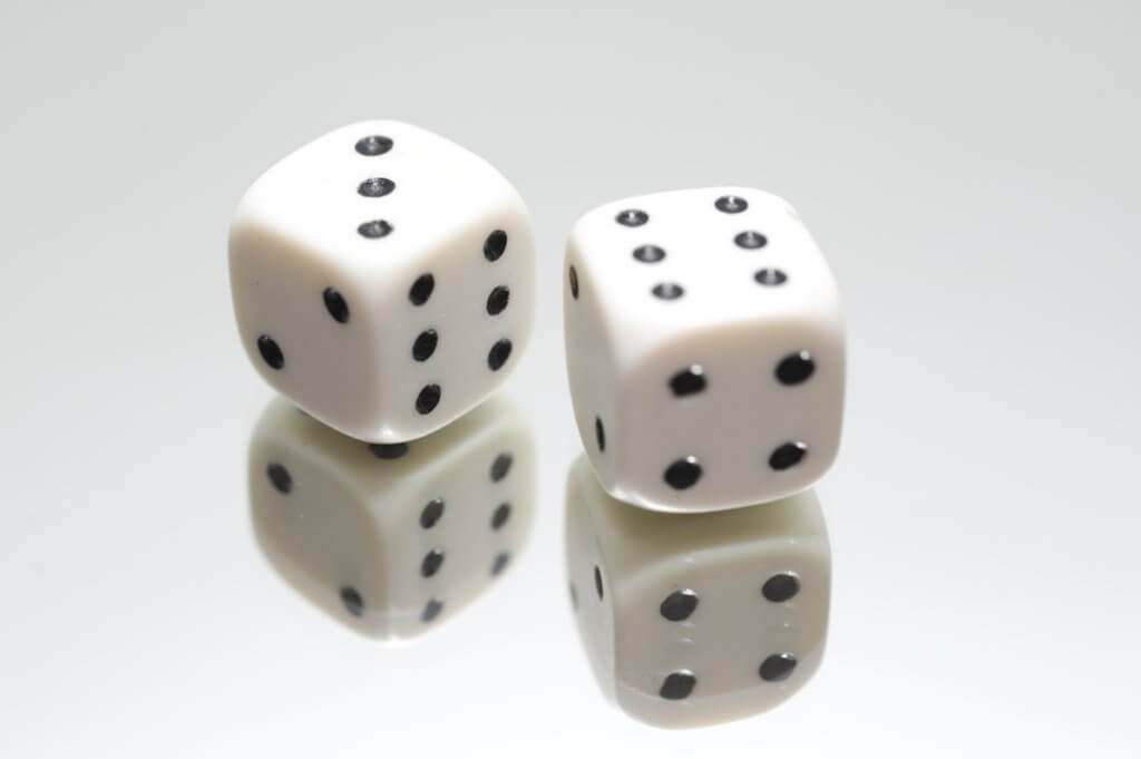 reflection of dice