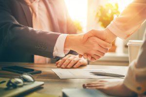 businessmen hand shake